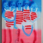 """Emilie Stark-Menneg, American Popsicle, 2017, 48""""x36"""", acrylic and oil on canvas"""
