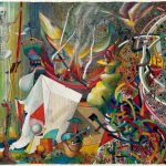 Robert S. Neuman Ship to Paradise – Paradise Found, mixed media on paper, 22 1/8 by 30 inches, 1983.Collection of Ann and Gilbert H. Kinney