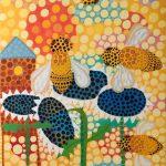 "Eva Rose Goetz, Buzz  30""x40"" acrylic gouache on canvas"