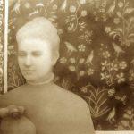 "Susan Drucker, ""Marianne Jones Fairbanks and Marmoset. India. 1882."" Pencil, eraser, ink. 2016."