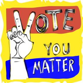 vote Suzanna Lasker Vote you matter Size  2000 pixel square 96 dpi JPG Medium  digital copy