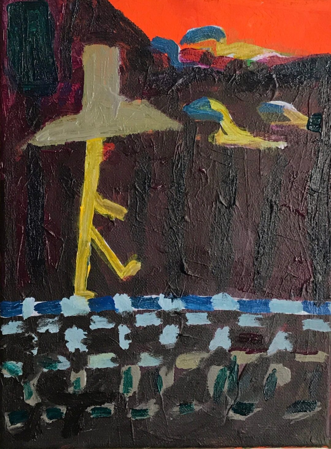 "Kenny Cole ""Checking In"" on Andy Heck Boyd untitled 9x12 acrylic on canvas2 19 IMG 2128"