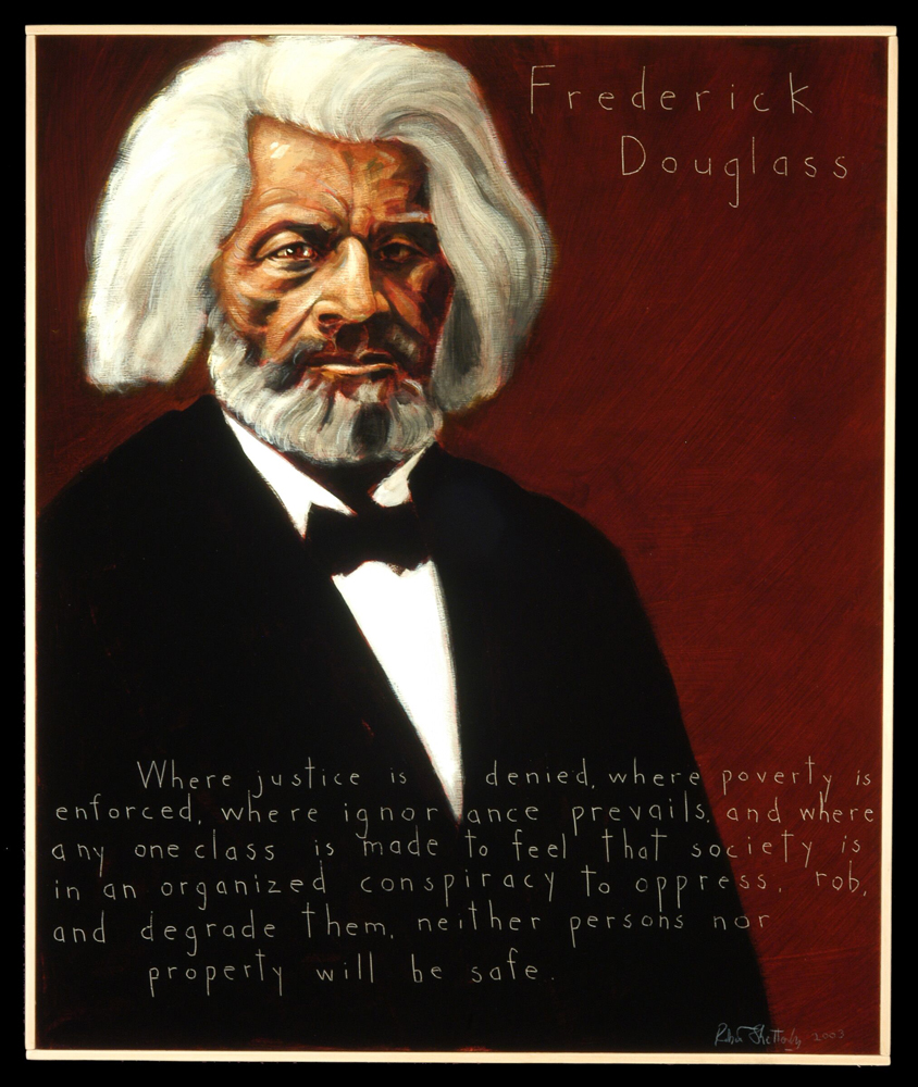 Robert Shetterly, Frederick Douglass, Americans Who Tell the Truth portrait series