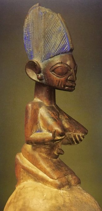 crichton alan essay image to accompany Kneeling Woman carved wood with pigment height 14 5 Artist unknown Yoruba 18th Century Nigeria AfricaIMG 9834