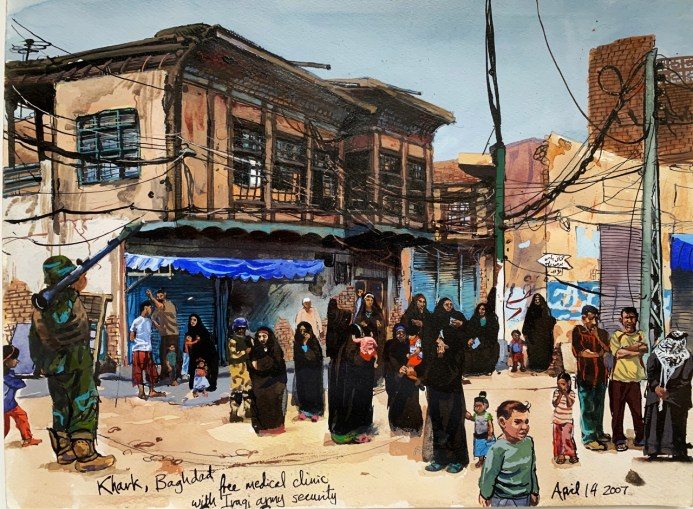 Drawing from Baghdad in 2007
