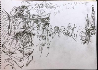Steve Mumford Portand Protests