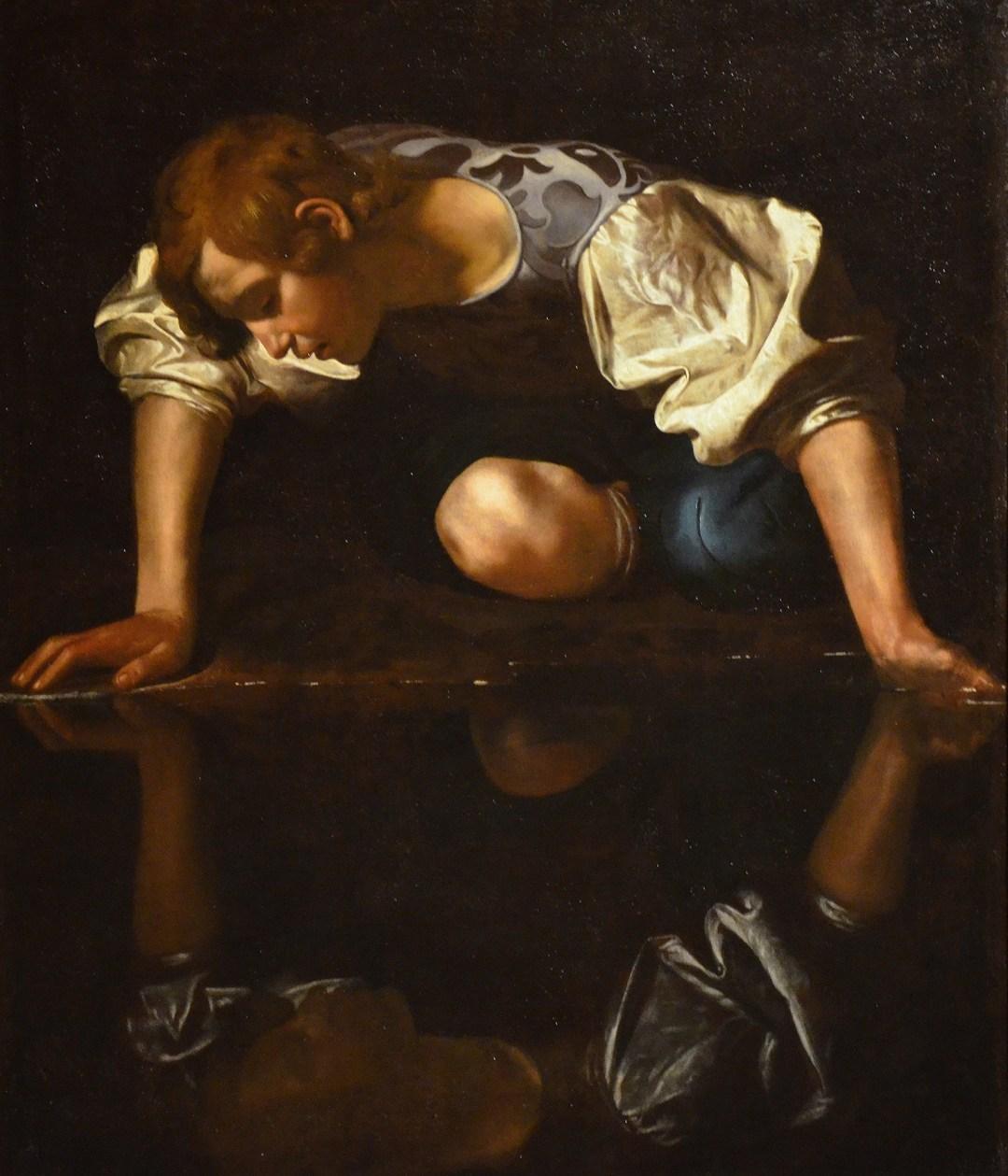 invite Narcissus by Caravaggio 1597–1599 Galleria Nazionale dArte Antica 21836123485 copy