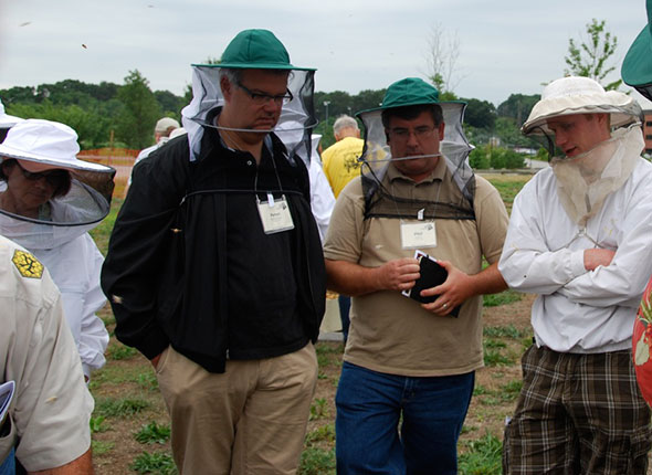 Peter Richardson, Phil Gaven, and Ian Munger representing Maine at EAS