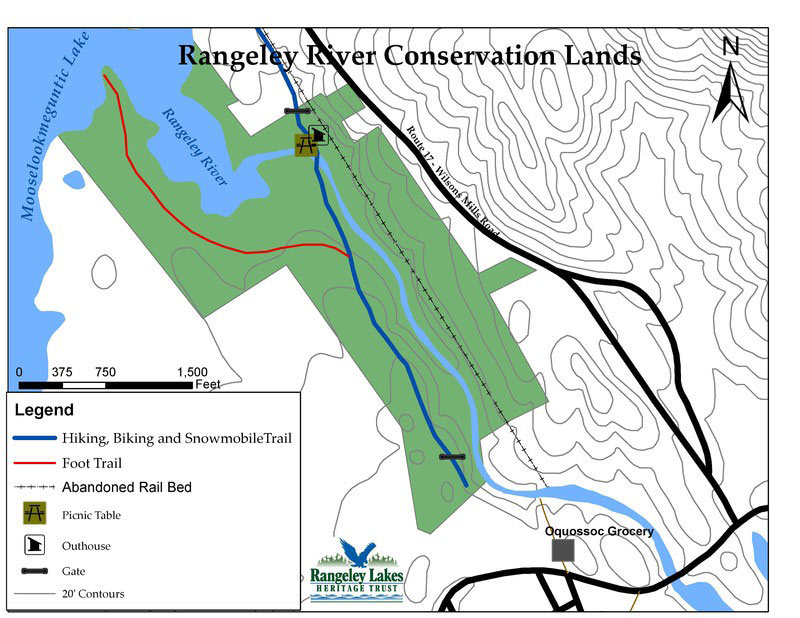 Rangeley River map