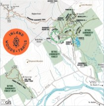 map inland woods trails