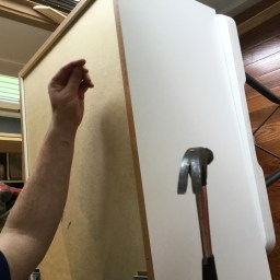 Assembling the cabinets