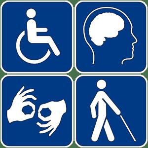Disabilities symbols