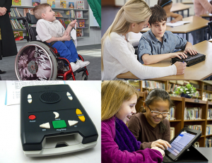 Students using Assistive Technology
