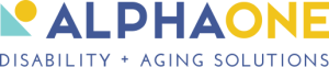 Alpha One logo - Disability and Aging Solutions