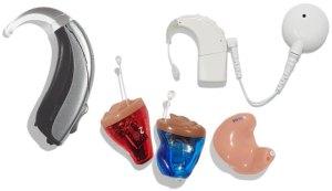 various hearing aids
