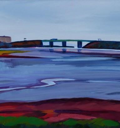 Tukey's Bridge, oil by Caren-Marie Michel