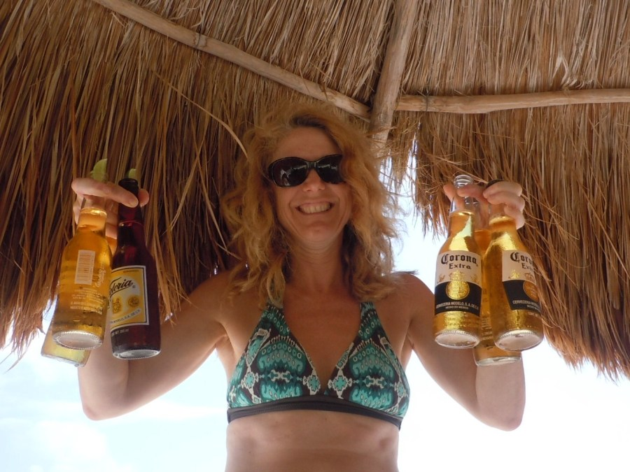 Corona beer on beach