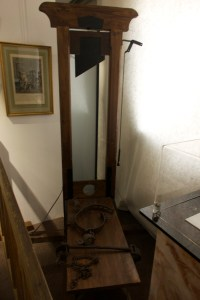 The guillotine remained the official means of excecution in France until the death penalty was outlawed in 1981. The last execution by guillotine was in 1977.