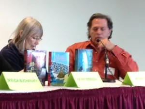 Sarah Graves and Al Lamanda on the series mystery panel