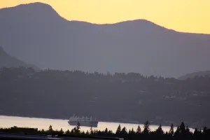 Vancouver's outer harbor at sunset