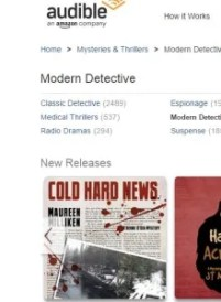 Checked out Audible.com and look what I saw! Cold Hard News leading the new releases.