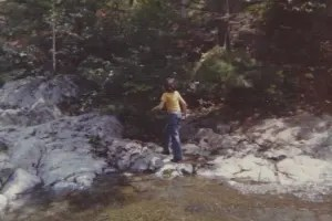 Brother Bill at Baxter State Park in 1976.