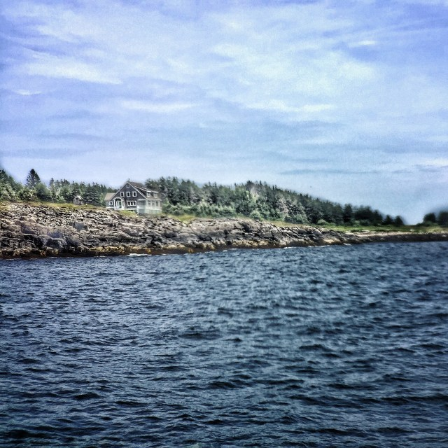 Monhegan from the water