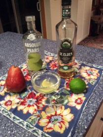 The ingredients for peartinis, courtesy of the Boston Book Festival