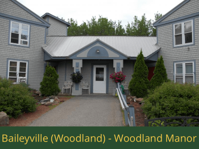 Baileyville (Woodland) - Woodland Manor: 24 units total – (20) 1 bedroom apartments, (2) 1 bedroom handicap accessible apartments, (2) 2 bedroom apartments
