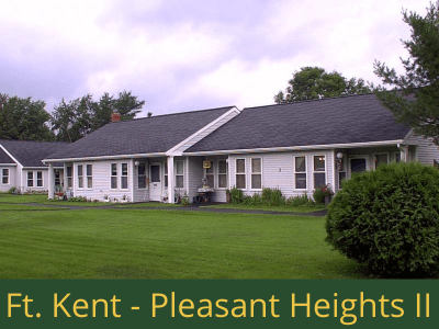 Fort Kent - Pleasant Heights II: 16 units total – (14) 1 bedroom apartments and (2) 2 bedroom handicap accessible apartments