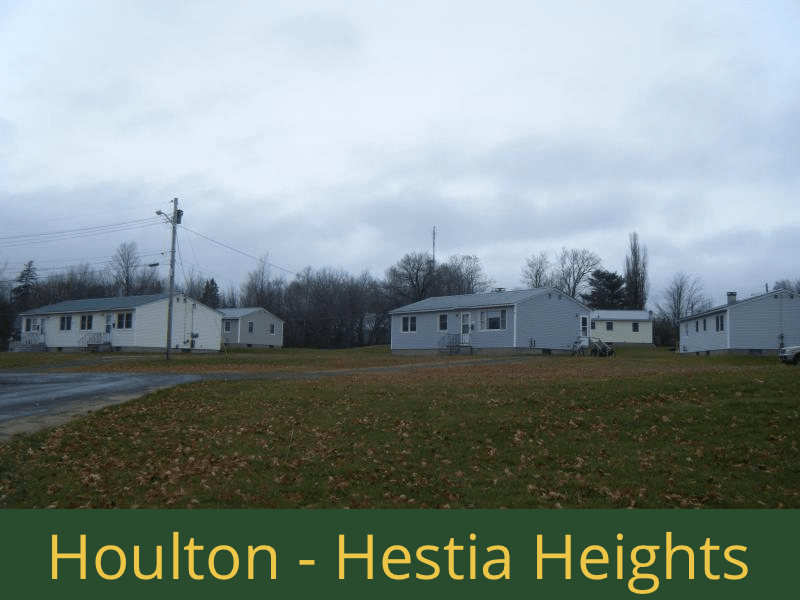 Houlton - Hestia Heights: 20 units total – (6) 1 bedroom apartments, (3) 2 bedroom apartments, (7) 3 bedroom apartments, and (4) 4 bedroom apartments