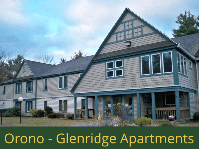 Orono - Glenridge Apartments: 24 units total – (16) 1 bedroom apartments, (2) 1 bedroom handicap accessible apartments, and (6) 2 bedroom apartments