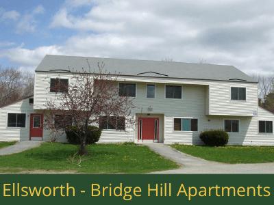 Ellsworth - Bridge Hill Apartments: 28 units total - (7) 1 bedroom apartments, (15) 2 bedroom apartments, and (6) 3 bedroom apartments