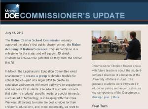 Commissioner's Update--July 12, 2012