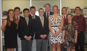 This year's 10 finalists for the United States Senate Youth Program.