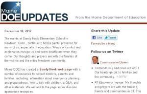 Maine DOE Updates - December 2012