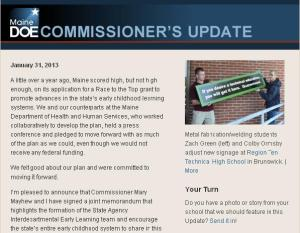 Commissioner's Update - January 31, 2013