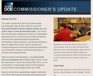 Commissioner's Update - February 28 , 2013
