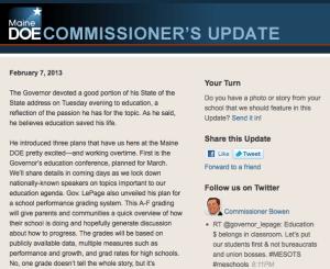 Commissioner's Update - Feb. 7, 2013