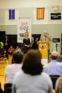 In presenting her the 2015 Teacher of the Year award, Maine Education Commissioner Jim Rier said longtime MSAD 54 special educator Jennifer Dorman is the epitome of what teaching is all about and thank her and her colleagues across the state who put students first.
