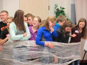"Students compete in ""Wrapped"" team race"