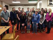 Draper joins Maine FFA State President Dayna McCrum with Mars Hill FFA students