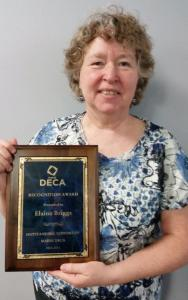 Elaine Briggs recognized by DECA