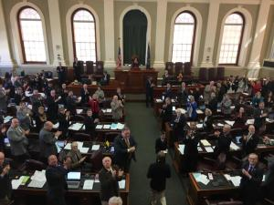 Maine House of Representatives give Commissioner Hasson a standing ovation shortly after he was confirmed.