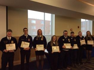 Proficiency Award Winners: Graham Berry, Wes Robinson, Breann Bradbury, Haleigh Holmes, Jonathan Howes, Dane Driscoll, Abby Walker, Ava Cameron.