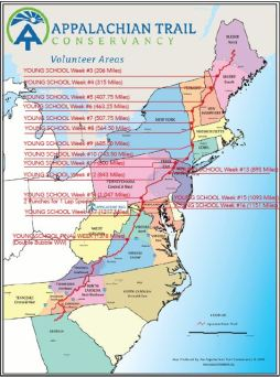 Appalachian Trail Comparison Map