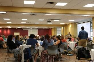 room full of educators sitting at tables
