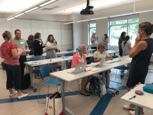 educators collaborating during work session