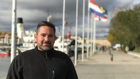 Ryan Gleason, Yarmouth Elementary School Principal, in Haninge, Sweden