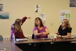 conference participants working together during workshop
